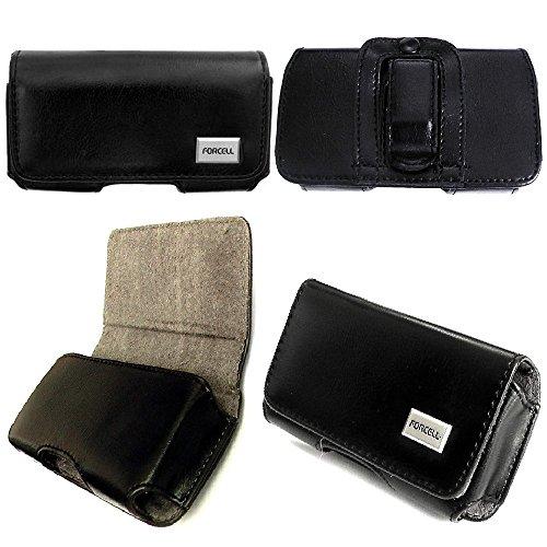 Forcell Classic Handytasche passend für Blackview Crown Gürteltasche Quertasche Seitentasche Schutzhülle Handycase mit Gürtelclip und Gürtelschlaufe in schwarz