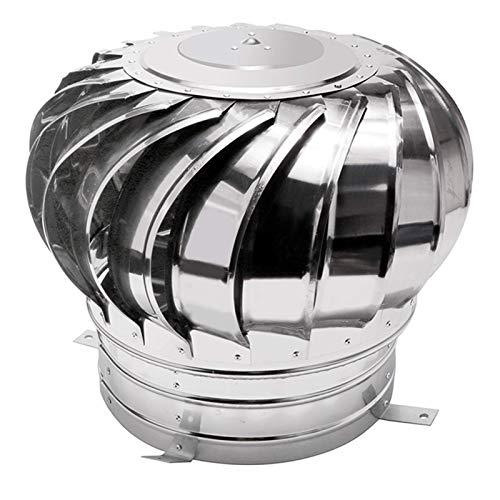 FZYE Tapa giratoria del Ventilador, Acero Inoxidable, fábrica giratoria de ventilación, antivaho, Cubierta de Chimenea, Protector de chimeneas, Cubierta de Lluvia y Nieve, 200 mm
