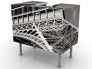 Apalis 52830 Waschbeckenunterschrank Eiffelturm, 60 x 55 x 35 cm