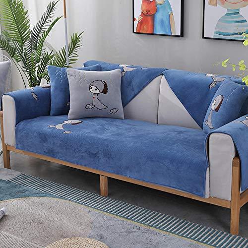 KENEL Funda de sofá, Cubierta de sofá sin Deslizamiento de sofá sin Deslizamiento Cubierta de sofá Cubierta de Tela para Mascotas para niños niños Perro Gato-Azul_70 * 90 cm