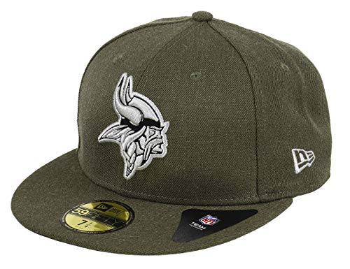 New Era Minnesota Vikings 59fifty Basecap - NFL Heather - Heather Olive - 7 3/4-62cm (XXL)