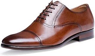 [RIBONGZ] ビジネスシューズ メンズ 革靴 本革紳士靴高級靴 内羽根ストレートチップ