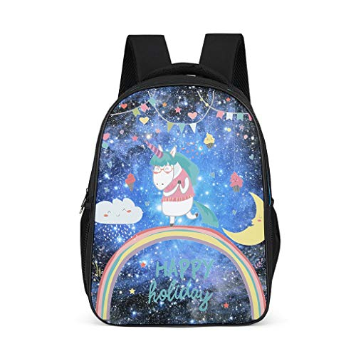 Zhenxinganghu Cute Unicorn Middle School Book Bags for Teens Trendy Laptop Backpack Travel Daypack Grey grey One Size