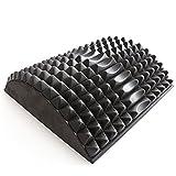66 Fit - Cojín para Estirar Las Zonas Lumbar y Abdominal, Color Negro