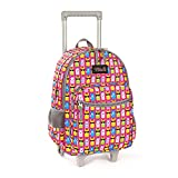 Rolling Backpack 18 inch Double Handle Wheeled Laptop Boys Girls Travel School Children Luggage Toddler Trip, Alpaca