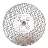 DT-DIATOOL Disco Diamantato per Taglio e Smerigliatura 125 mm x M14 Doppio Lato Elettrolitica per Piastrelle Granito Marmo Pietra