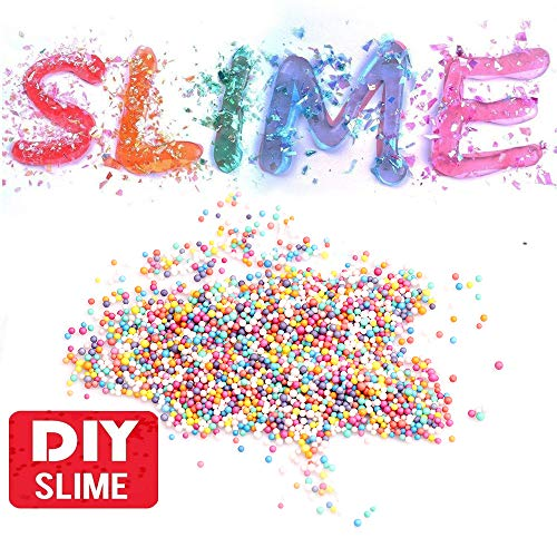 Slime Making Kit Slime Supplies, 58 Pack Including Fishbowl Beads,Foam Balls,Glitter, Fruit Slices, Rainbow Pearls, Sugar Paper,DIY Slime Charms Kit for Sequin Making Art Craft
