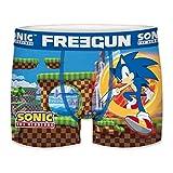 FREEGUN Talla 14/16: Boxer unitario Infantil Sonic The Hedgehog, Multicolor, Niños