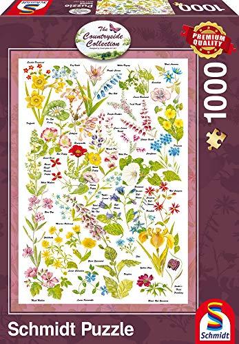 Schmidt Campo Arte Flores Silvestres Premium Calidad Jigsaw Puzzle (1000Piezas)