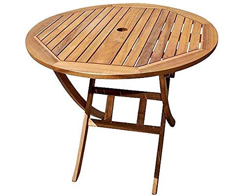 SAM Gartentisch Jasper, 90 cm rund, Akazienholz geölt, Balkontisch klappbar