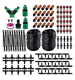 Kit de riego por gota, set de riego ajustable, 149 piezas, sistema de riego 30 m, kit de micro riego automático para jardín, invernadero