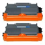 Mipelo TN-2220 TN2220 Cartouches de Toner, 2 Noir Remplacement Compatible pour Brother HL-2250DN HL-2130 FAX-2840 HL-2270DW FAX-2940 FAX-2845, 2600 Pages par TN2220