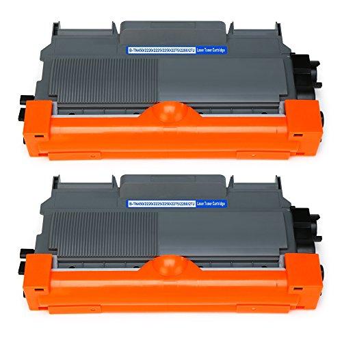 Mipelo Kompatibel Brother TN-2220 TN2220 Toner, 2 Pack Ersatz für Brother MFC-7860DW HL-2130 HL-2250DN MFC-7460DN FAX-2840 HL-2240 HL-2270DW FAX-2940 FAX-2845 MFC-7360N HL-2270 DCP-7060D DCP-7065DN