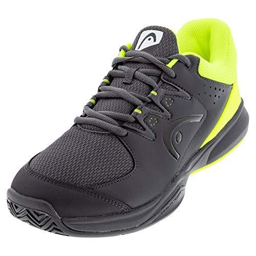 Head Brazer 2.0, Zapatillas de Tenis para Hombre, Gris (Anthracite/Neon Yellow Anny), 43 EU