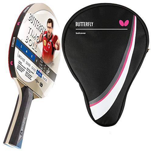Butterfly Timo Boll Platinum - Racchetta da ping pong + custodia per ping pong