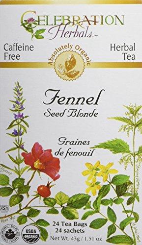 CELEBRATION HERBALS Fennel Seed Blonde Tea Organic 24 Bag, 0.02 Pound