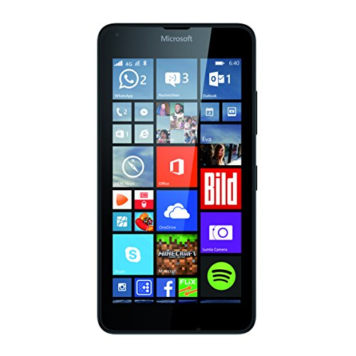Microsoft Lumia 640 Dual-SIM Smartphone (5 Zoll (12,7 cm) Touch-Display, 8 GB Speicher, Windows 10) schwarz