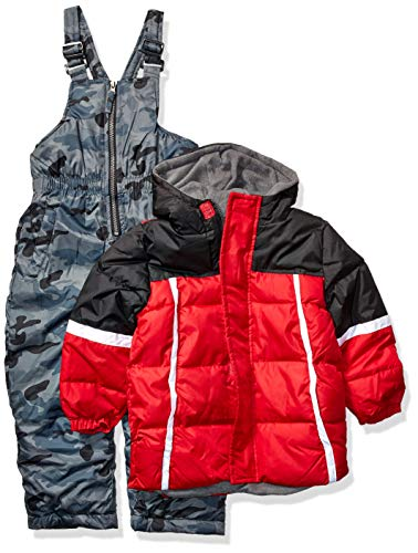 iXtreme Little Boys' Toddler Camo Bottom 2-Piece Snowsuit Set - Black, 3t