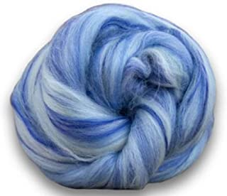 4 oz Paradise Fibers Soft & Silky Bambino Tweedledee - 85% 23 Micron Solid Color Merino Wool and 15% Dyed Bamboo Blend