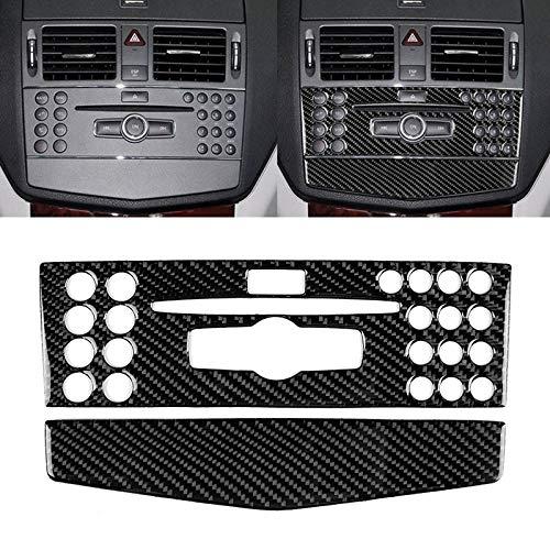 Car Holder Remote-Car Key-Car Phone Sticker Carbon Fiber Car Center Console Pannello decorativo Sticker for Mercedes-Benz W204 Classe C 2007-2010
