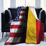 Flag of Belgium (belga) - Manta rústica de forro polar ligera para todas las estaciones de EE. UU. Para el hogar, la oficina, el sofá de viaje, el sofá, cálido y acogedor, 3 tamaños, 50 x 40 pulgadas