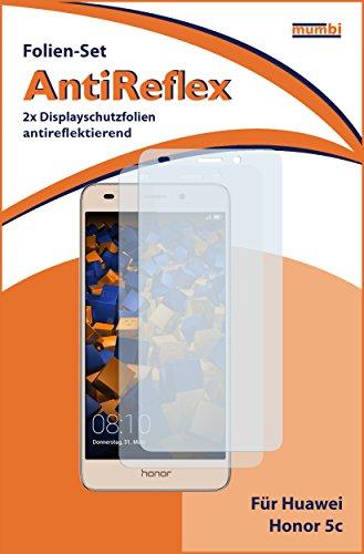 mumbi Schutzfolie kompatibel mit Huawei Honor 5C Folie matt, Displayschutzfolie (2X) - 2