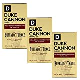 Duke Cannon Supply Co. - Big American Bourbon Soap, Bourbon Oak Barrel (3 Pack of 10 oz) Superior Grade Soap Made With Buffalo Trace Kentucky Straight Bourbon Whiskey - American Buffalo Trace Bourbon
