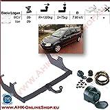 ATTELAGE avec faisceau 13 broches   Dacia Logan de 2007 à 2013 Break / crochet «col de cygne» démontable avec outils