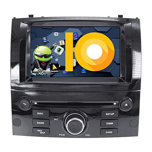 JIBO para Peugeot 407 2004-2010 Auto Cabeza Unidad Android 8.1 Doble Estruendo Estéreo GPS Navegación Multimedia Jugador 7' Tocar Pantalla Nav Sat Teléfono Control Radio Video Receptor,2G+16G 4Core