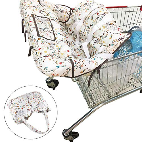 rainnao - Protección para el Carro de la Compra para bebés o niños pequeños, Universal, Acolchado para la Trona, portátil, Plegable, Lavable a máquina, protección higiénica para el niño
