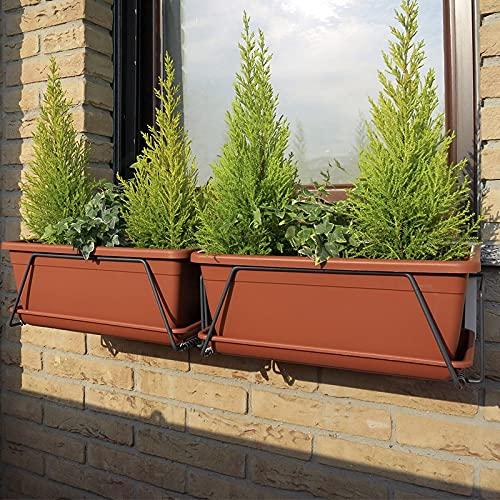 GardenStuff Silvano Il PORTAVASI per FINESTRE 60cm - Antracite