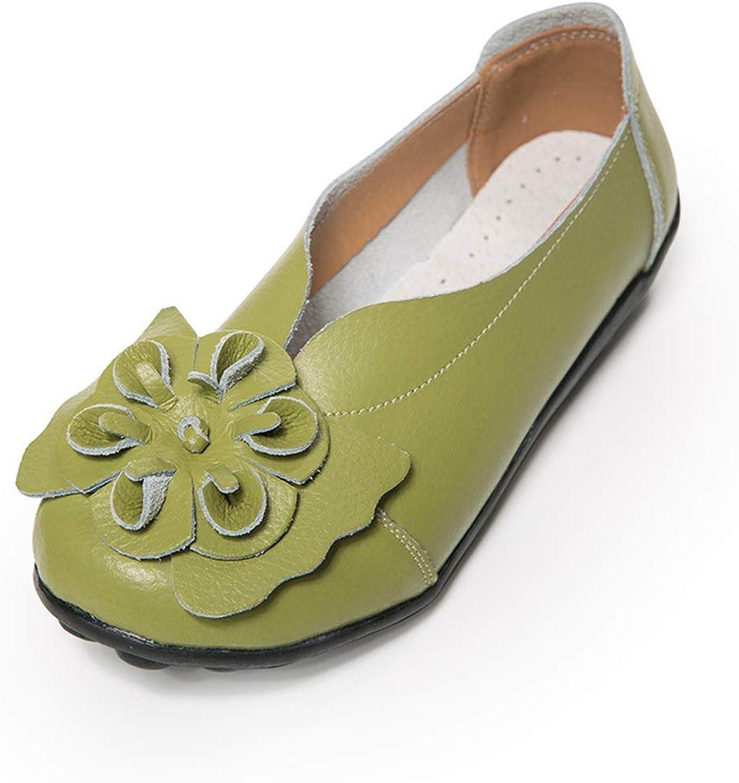 Drew Toby Women's Flats,Classic Flower Non-Slip Black Red Round Toe Four Season shoes