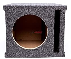 ASC Single 8 Subwoofer Universal Slot Vented Port Sub Box Speaker Enclosure