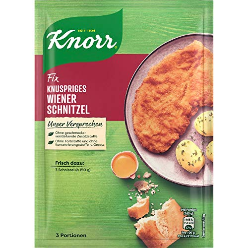 Knorr Fix Panade Knuspriges Wiener Schnitzel, für die leckere Traditionsmahlzeit, 3 Portionen, 90g