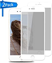 Privacy Screen Protector for Iphone 6 Plus 6s Plus [White, 2 Pack] ANYOYO Tempered Glass Screen Protector with Anti-Spy/Scratch/Fingerprint Ultra-thin Full Coverage Screen Film, Easy to Install - 5.5
