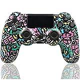 LVHI Mando Inalámbrico para PS4, Bluetooth Mando de Juegos con Dual Vibración, Somatosensorial de 6 Ejes, Audio, Mandos PS4 Gamepad Joystick para Playstation 4/PS4 Pro/PS4 Slim (Color : Letters)