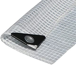 Canopies and Tarps Heavy Duty Clear Poly Premium Tarp, 18' x 24' - Tear-Resistant Rope-Lined Edges, 36
