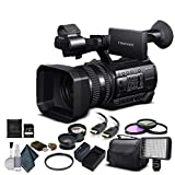 Sony HXR-NX100 Full HD NXCAM Camcorder (HXR-NX100) with 64GB Memory Card, Extra Battery and Charger, UV Filter, LED Light, Case, Telephoto Lens, Wide Angle Lens, and More - Advanced Bundle