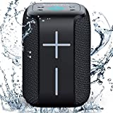 10W+ Bass Bluetooth Speaker Soundnova N6 Small Portable Premium IP65 Waterproof Bluetooth Speaker 12h Playtime Support TF Card/U Disk Perfect Outdoor Mini Wireless Speaker for Shower Camping Beach