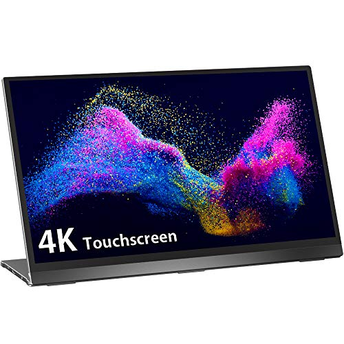 4K Tragbarer Touchscreen USB C Monitor, UPERFECT 15,6 Zoll Portable Gaming Monitor 3840x2160 mit Schwerkraftsensor Auto-Rotation Rahmenlos Display