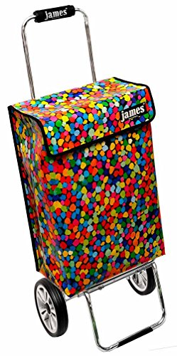 james ® Einkaufstrolley Design Confetti Deluxe, moderner Einkaufswagen, bunter Lifestyle Shopper, Trolly, Rollkoffer, 40kg Tragkraft, klappbar, Made in EU!