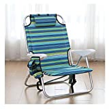 terraza tumbonas Dormir portátil Silla plegable Silla multifuncional Ocio aleación de aluminio de soporte ajustable concierto césped al aire libre silla de playa tumbonas de playa ( Color : B )