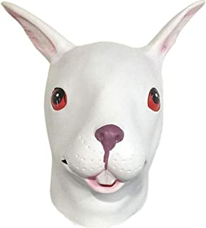 HESANYU AU Buck Animal Masks caps Cute Bugs Bunny Theatrical Masquerade Performances Headdress hat ( Color : 2 , Size : One Size )