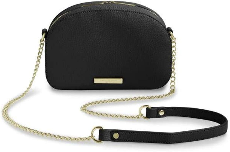 Katie Loxton  Half Moon Bag  Black  15x22x6cm