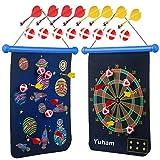 Yuham Magnetic Dart Board Indoor Outdoor Games for Kids and...