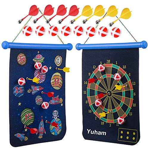 Yuham Magnetic Dart Board Indoor Outdoor Games for Kids and Adults, Toys Gifts for 5 6 7 8 9 10 11...