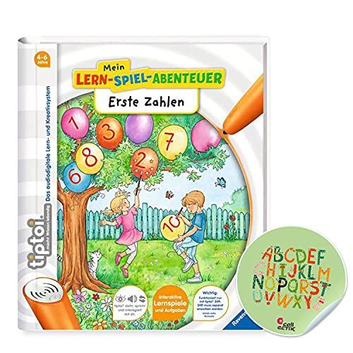 Ravensburger tiptoi ® Buch ab 4 Jahre   Erste Zahlen - Mein Lern-Spiel-Abenteuer + ABC Kinder Sticker von Collectix