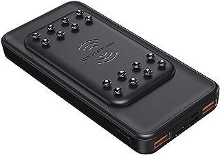 15W Fast Charge Wireless, 10000MAH Wireless Power Bank Laddning Powerbank Externt batteri, Bärbart laddare Hjälpbatteri