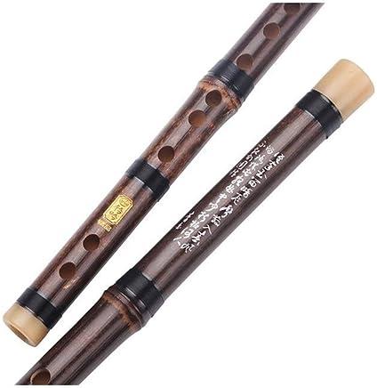 Wuhuizhenjingxiaobu Flauto, flauto adulto Zizhu flauto, adatto per lingresso professionale flauto F, strumento musicale per bambini principiante zero base Zizhu E Alta qualità (Color : Brown-D)