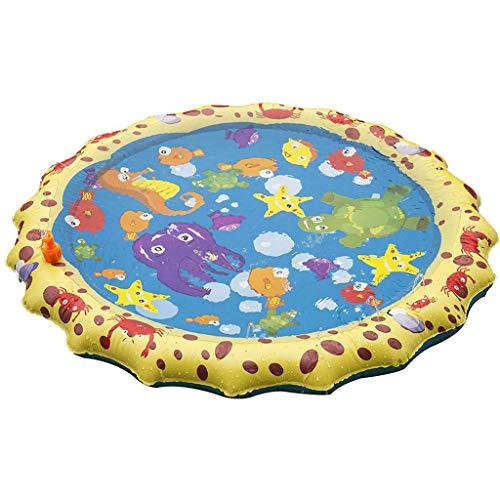 Sprinkler Voor Kinderen, Opblaasbare Splash Sprinkler Pad Kids Peuters, Zomerplezier Achtertuin Spelen Outdoor Opblaasbaar Waterspeelgoed Voor 1-12-Jarige Kinderen